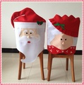 1 PC Encantador Mr & Mrs Natal de Papai Noel Cadeira Da Sala de Jantar Assento tampa Traseira Capa Casaco de Festa Em Casa Decoração de Mesa de Natal Acessório