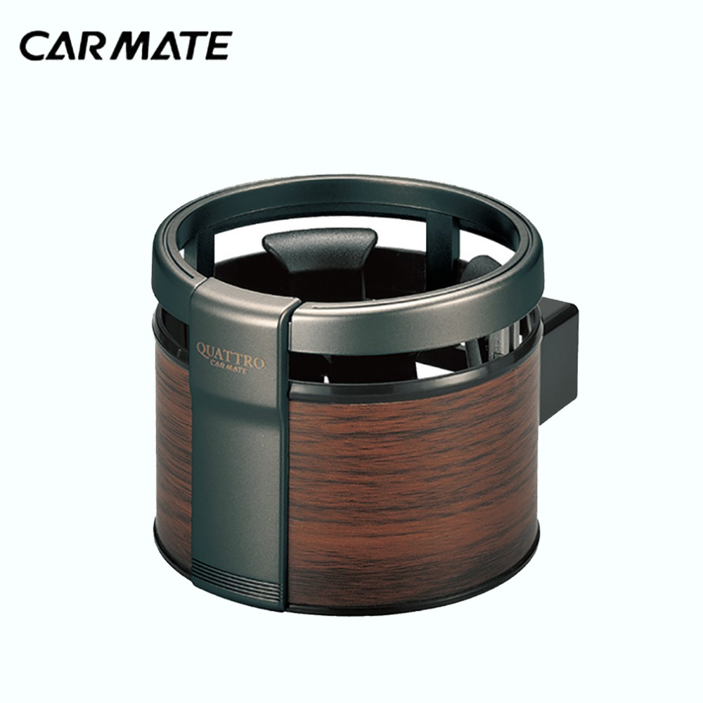 CARMATE DZ320 Car Air Conditioner Air Outlet Dashboard Insert Wood Grain Cup Holder Drink Coffee Holder Car Accessories