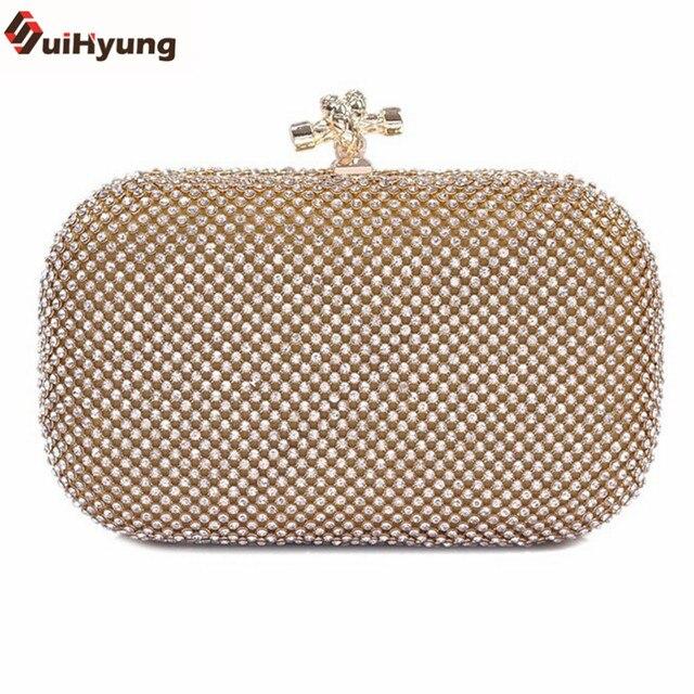 Free Shipping New Women Shoulder Handbag Fashion Full Diamond Hard Box Day Clutches Crystal Clutch Bag Ladies Party Evening Bag