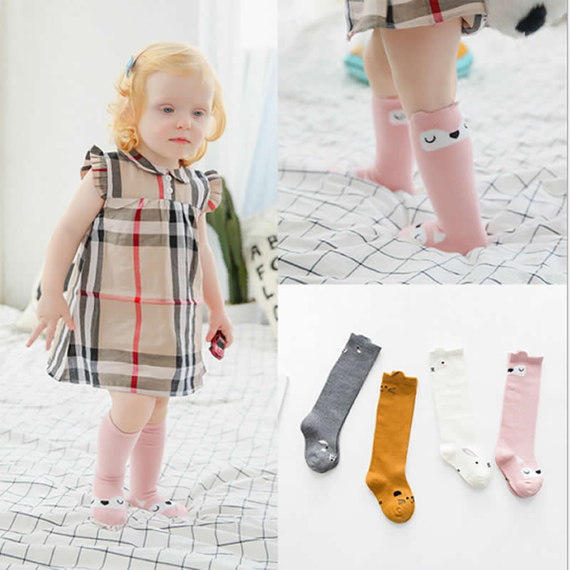 Children Socks Print Animal Cotton Baby Socks Knee High Fox Rabbit Style Kids Sock Cute Toddler Girl Infant Accessories