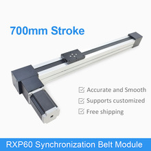 RXP60 700 mm Synchronization Belt Drive Linear Module CNC Guide Motion Rail Motorized Slide Table Actuator