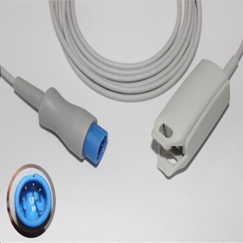 Бесплатная доставка, Совместимость с MINDRAY T5/T8, Круглый 7pin, для взрослых, с зажимом для пальцев, Spo2, датчик пульсоксиметрии, Spo2, датчик кислород...