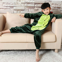 Hot Children Winter Flannel Pyjamas 3 12Y Baby Girls Long Sleeve Baby Boy girls Dinosaur Cartoon Pajamas