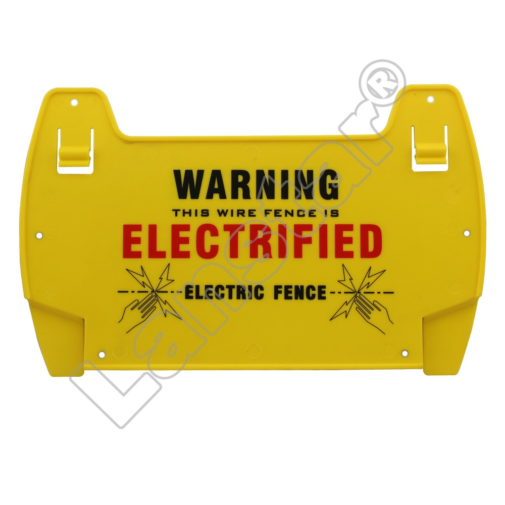 Lanstar 5PCs Electric Fence  Danger Signs, Warning Board