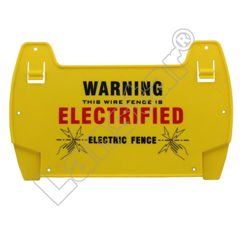 Lanstar 5PCs Electric Fence  Danger Signs, Warning Board