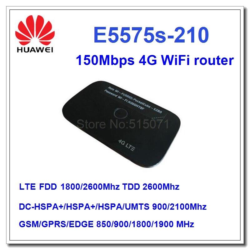 Unlocked HUAWEI original pocketcube E5575 E5575S-210 LTE 4G FDD 1800/2600MHZ portable 4g wifi hotspot unlocked huawei e5575 150mbps 4g lte wifi router mobile hotspot fdd 1800 2600mhz tdd 2600mhz pk e5573