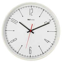 35cm Round Atmosphere Fashion Clock Mute Wall Clock For Home Decor Mediterranean Style Office Room Decoration White
