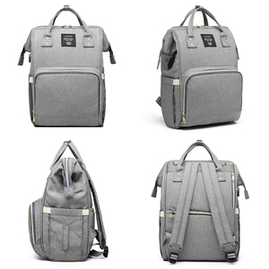 Image 5 - Moda mumya analık bez torba büyük kapasiteli bebek çantası seyahat sırt çantası hemşirelik çantası bebek bakımı için USB arayüzü ile