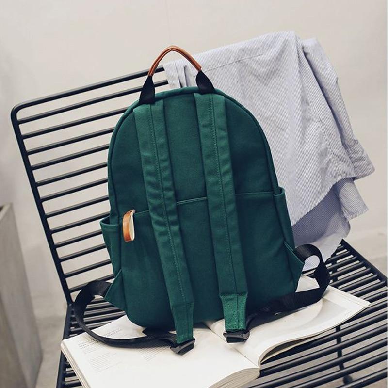 2018 fashion women canvas backpack comfortable school bag for teenage girls big multifunction pink lady travel backpacks Y240