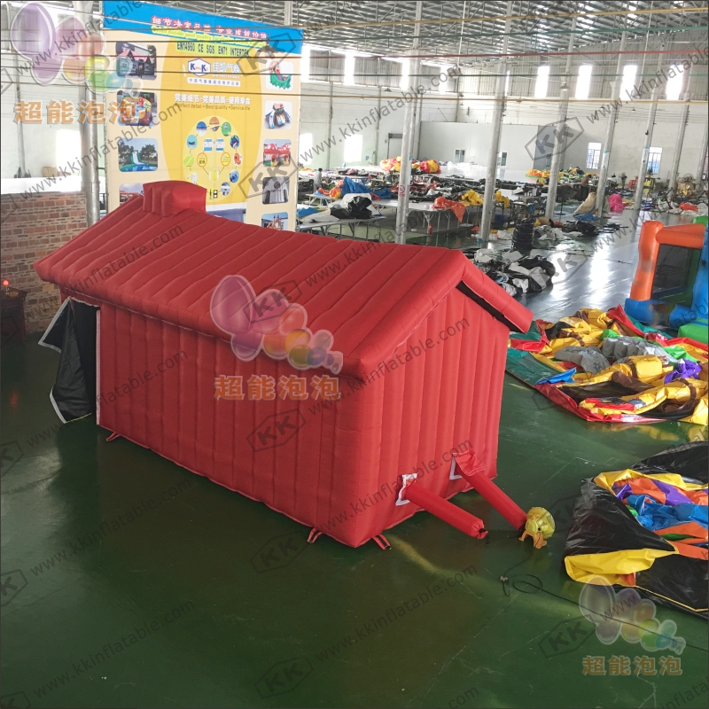 Safe PVC/Nylon Oxford inflatable tent house fire fighting drill escape house tent ...