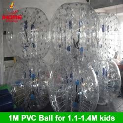 1M 6 stücke + 1 fuß pumpe mit fabrik Preis Aufblasbare Blase Ball Anzug Für Team Gebäude blase fußball für weihnachten geschenk