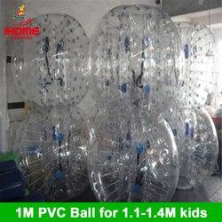 1M 6 uds + 1 Bomba de pie con precio de fábrica traje de bola de burbuja inflable para equipo de construcción de fútbol de burbujas para regalo de Navidad