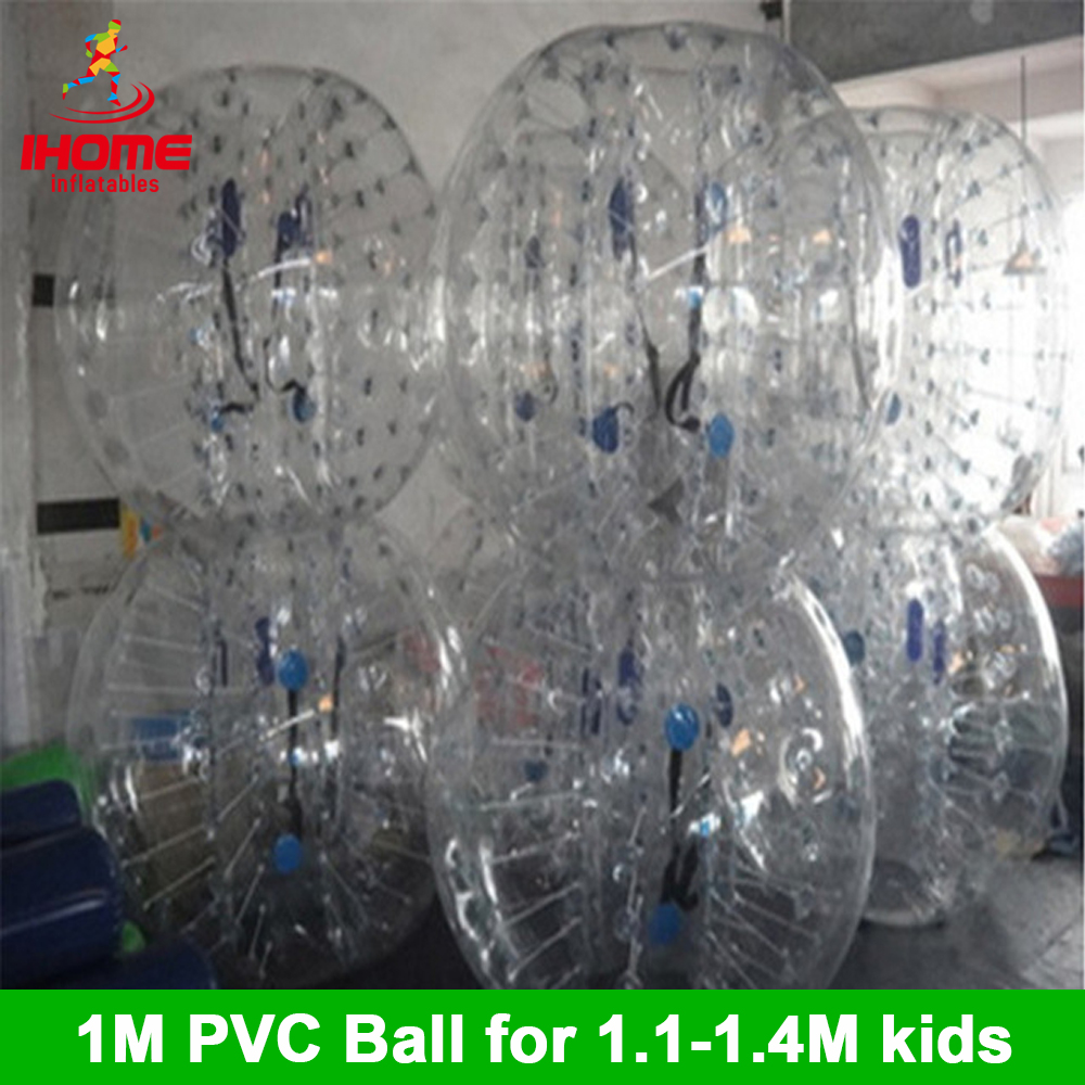 1M 6pcs+1 foot pump with factory Price Inflatable Bubble Ball Suit For Team Building bubble soccer for christmas gift