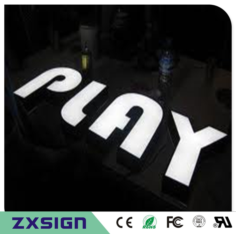 Custom Outdoor Advertising Front Lit Acrylic Sign Letter