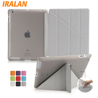 Ultra Thin Stand Design PU Leather Case For Ipad 2 3 4 Cover Colorful Flip Smart