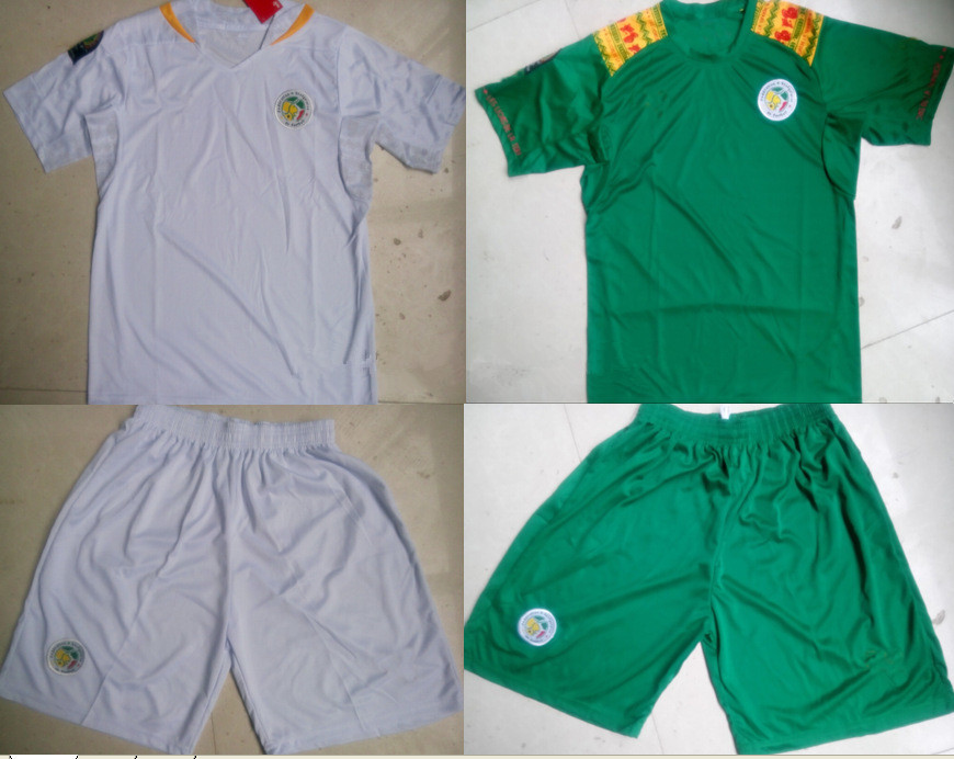 on sale 6a774 6ac56 Africa Senegal team home and away jersey football 2014 ...