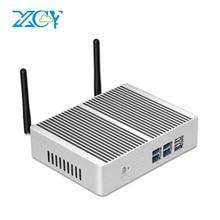 Xcyファンレスミニpcインテルコアi7 4610Y i5 4200Y i3 4010Y DDR3L msata ssd hdmi vga 6 * usb無線lanギガビットlan windows 10 linux htpc