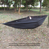 LUCKSTONEA Single Or A Double Portable Outdoor Garden Hammock Tent Accessory Camping Hiking Swing Canvas Stripe