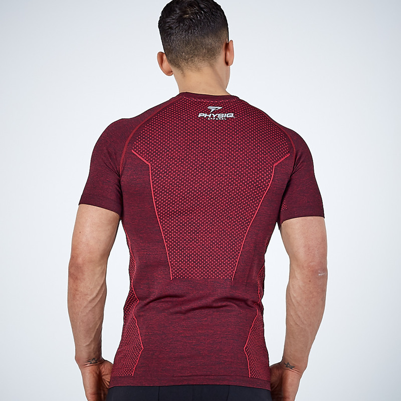 running - 2020 New Men Running Tight Short T-shirt compression Quick dry t shirt Male Gym Fitness Bodybuilding jogging Tees Tops clothing
