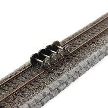 Evemodel 24 шт. 36 металлические колеса для модельного поезда масштаб 1:87 HO новый набор колес переменного тока HP0387 Набор для моделирования DIY аксессуары