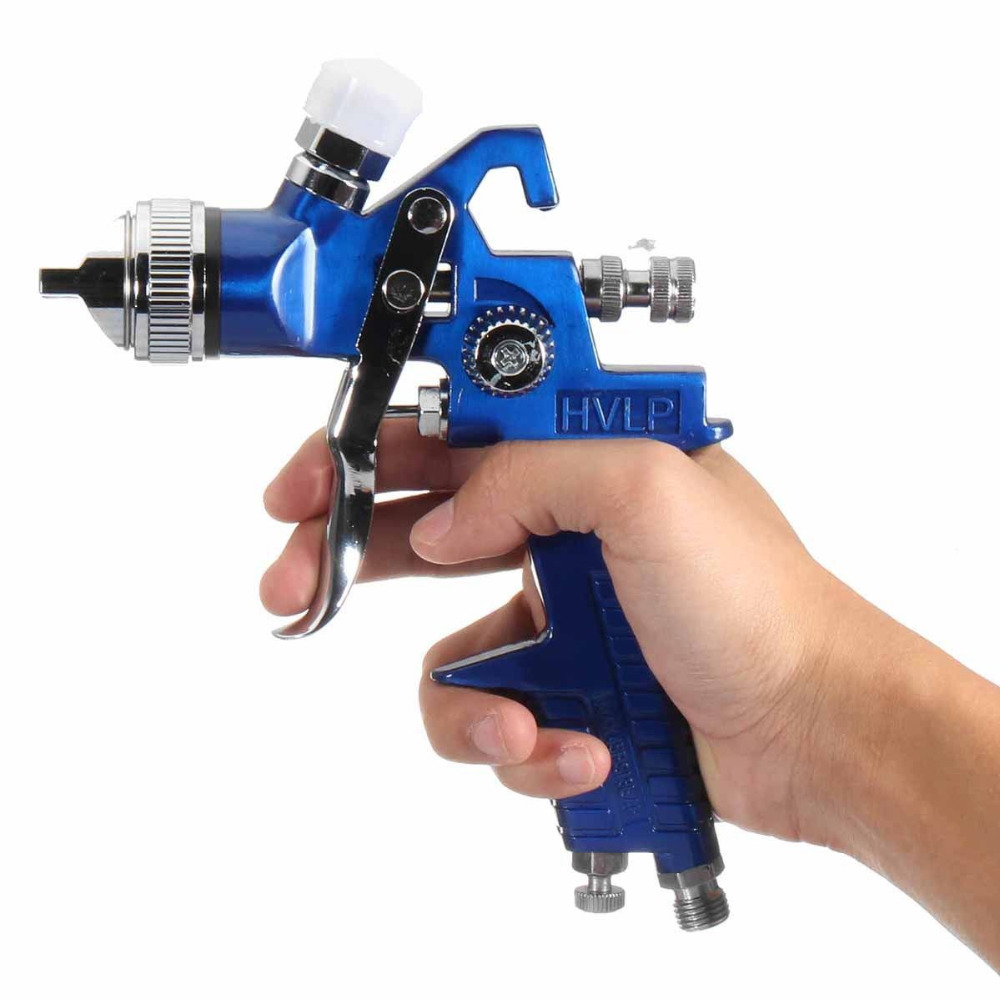 1 4mm 1 7mm Professional HVLP Air Spray Gun Paint Sprayer 600ml Gravity Feed Airbrush Kit Car Furniture Painting Spraying Tool in Spray Guns from Tools