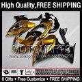 8Gift  For SUZUKI GSX 650F Gold black 08 09 10 11 12 13 GSXF650 77JK55 GSX650F Golden blk 2008 2009 2010 2011 2012 2013 Fairing