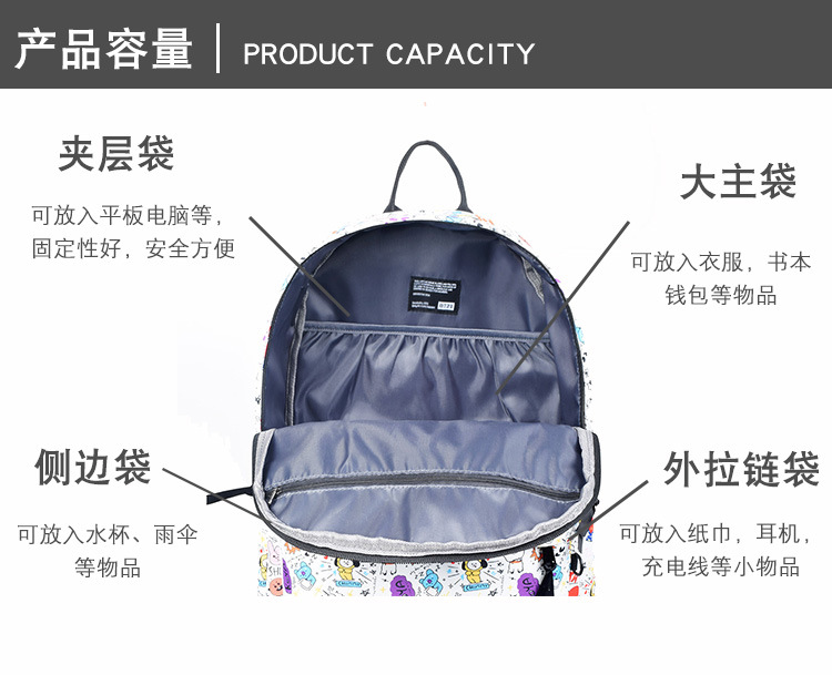Luggage & Bags Backpacks 2018 New Seventeen Han Fan Fashion Men And Women Student Backpack And Leisure Backpack