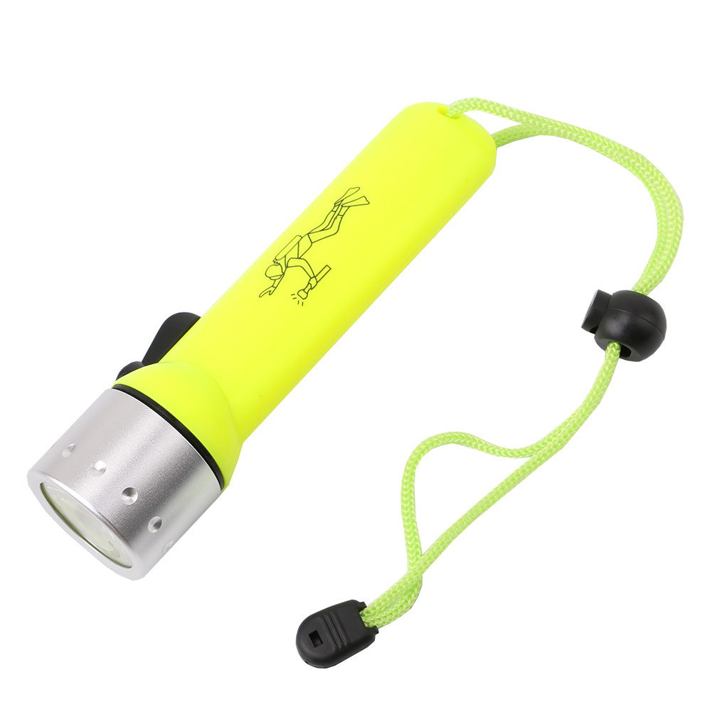 LED Diving flashlight Underwater light Q5 LED Waterproof Diving Torch Lamp 1200LM By 4xAA Battery Operated