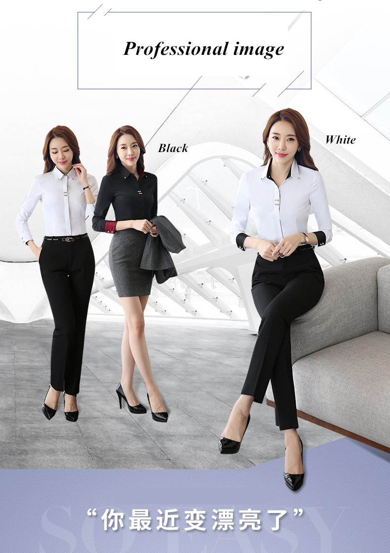 HTB14Y.DLXXXXXaOXXXXq6xXFXXXr - Long sleeve shirt black white slim cotton blouse office ladies