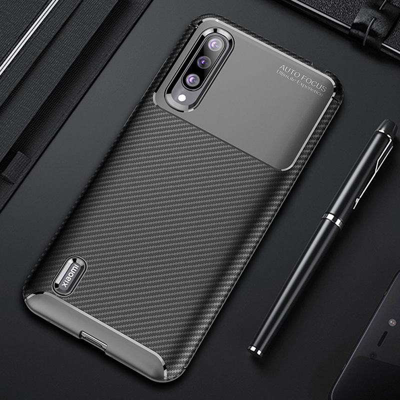 Case For Xiaomi Mi 9 Lite Case Cover Luxury Carbon Fiber Bumper Silicone Phone Back Case For Xiaomi Mi9 Lite MI 8 Lite