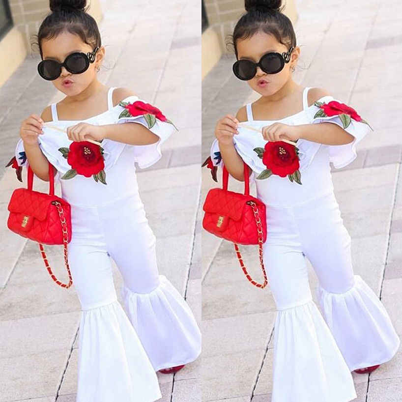 de3a9ba5d1a Detail Feedback Questions about PUDCOCO Fashion Floral Toddler Baby Girl Rompers  Jumpsuit Bell Bottom Kids Overalls Outfit Cute Clothes 1 6Y on ...