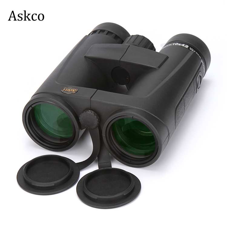 Military Roof 10X42 ED nitrogen waterproof BAK4 hunting birdwatching binoculars telescope HD fogproof with FMC green film 2017 new arrival all optical hd waterproof fmc film monocular telescope 10x42 binoculars for outdoor travel hunting page 2