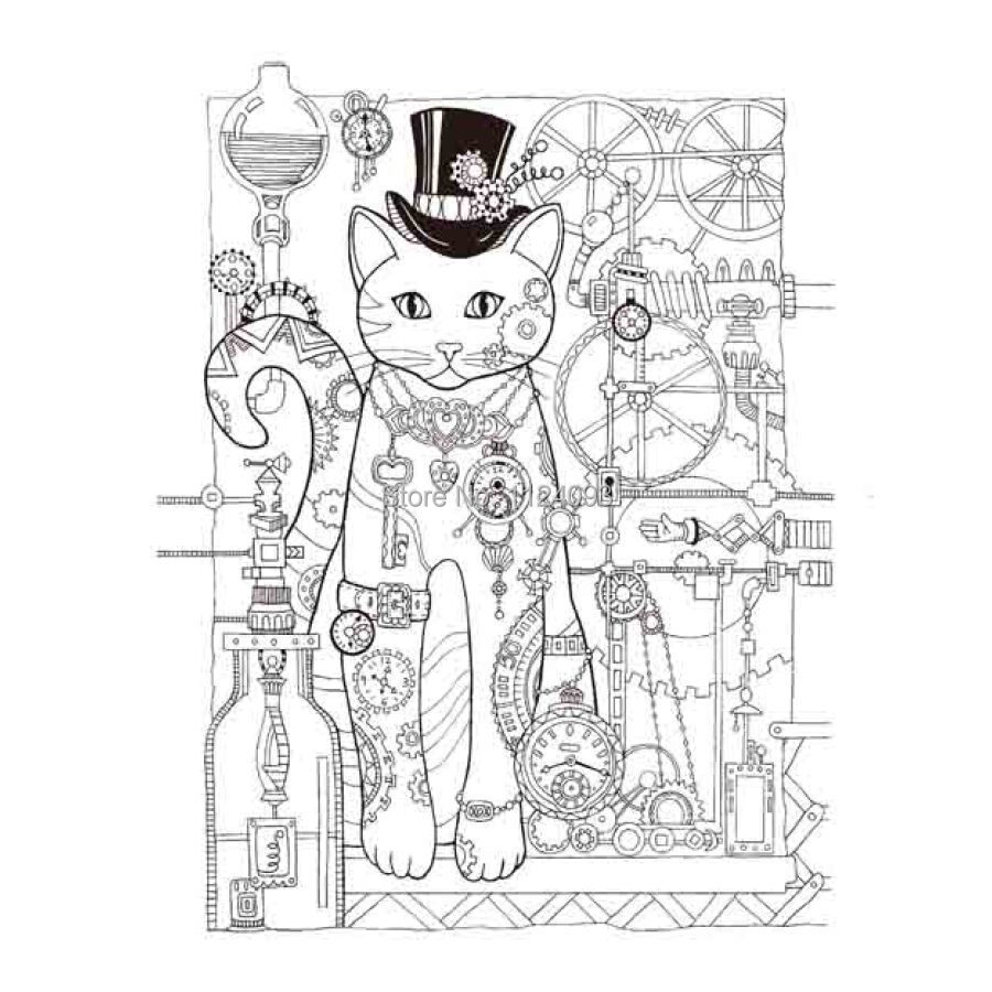 The enchanted forest colouring book nz - Adults Colouring In Book Nz Aliexpress Com Buy Booculchaha Creative Cats Coloring Book Anti Stress