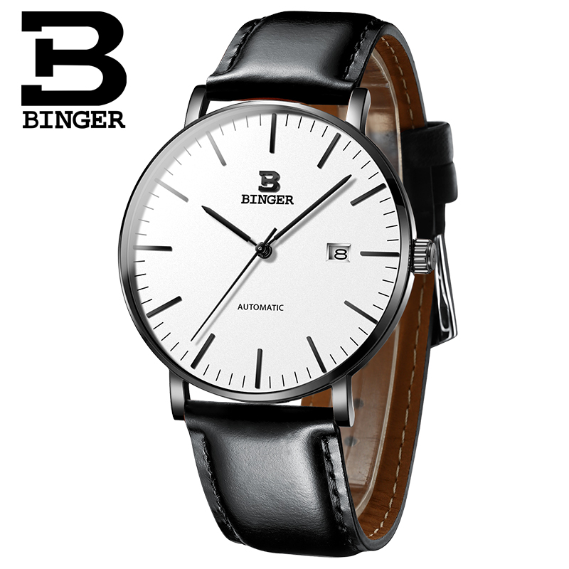 Switzerland BINGER Men Watch Luxury Brand Automatic Mechanical Mens Watches Calendar Sapphire Waterproof Male reloj hombre 2019Switzerland BINGER Men Watch Luxury Brand Automatic Mechanical Mens Watches Calendar Sapphire Waterproof Male reloj hombre 2019