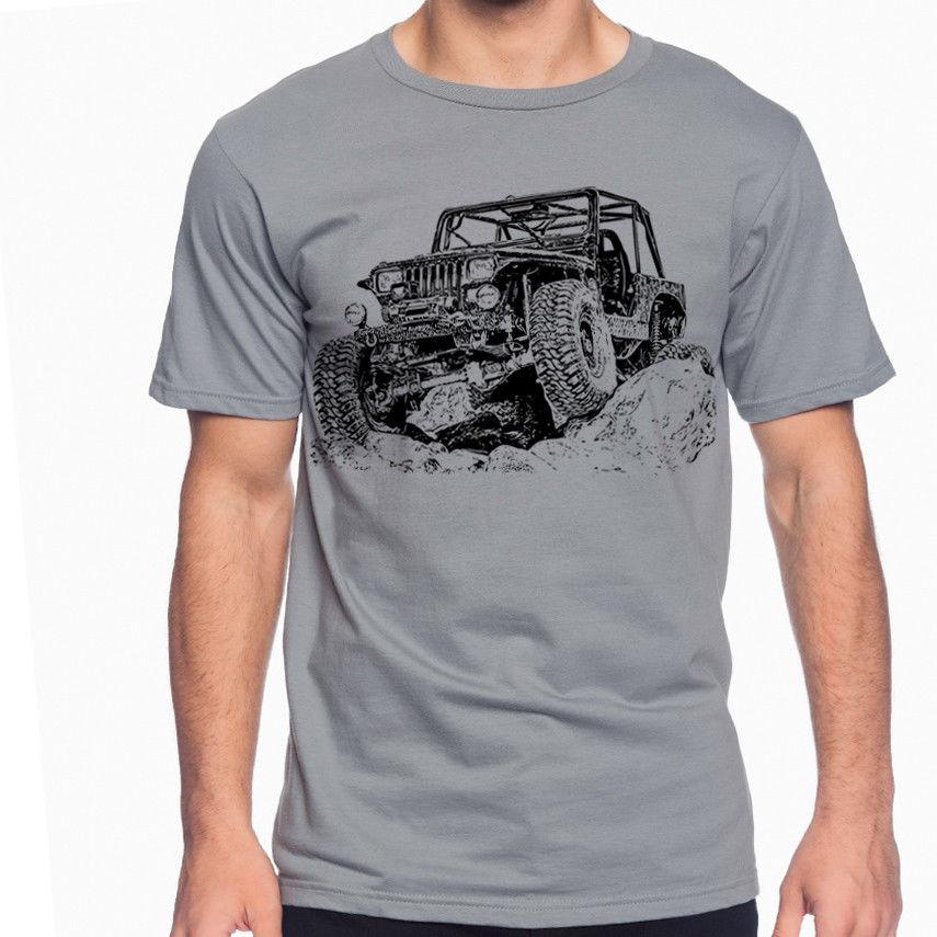 2018 новые модные красивые футболка Off Road вентилятор YJ 1st Gen футболка грязи ралли multi Цвет S-3XL джип на заказ футболка