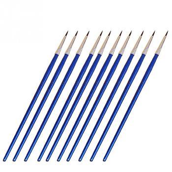 10Pcs/Set Fine Hand-painted Thin Hook Line Pen Drawing Art Pen #0 #00 #000 Paint Brush Art Supplies Nylon Brush Painting Pen