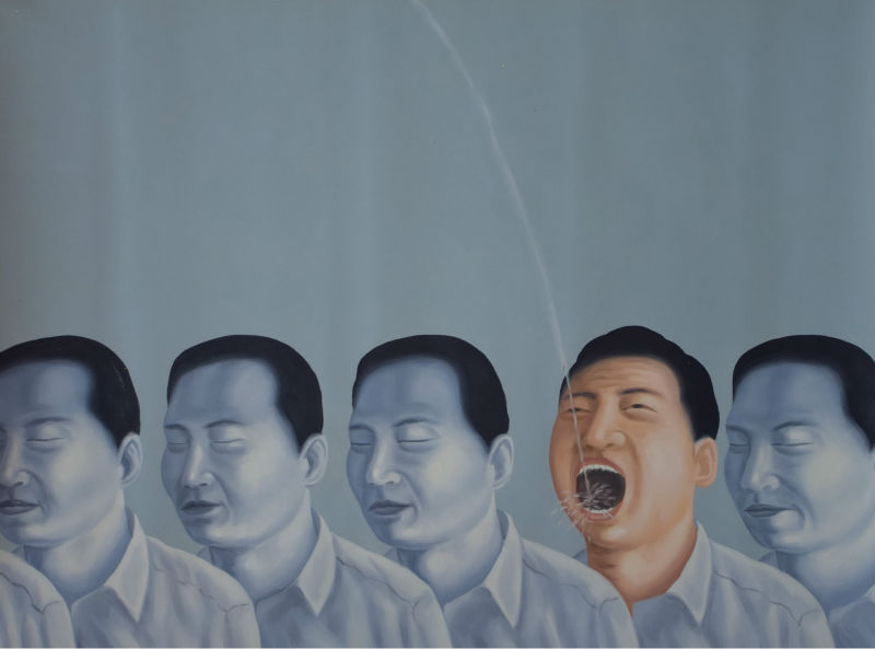 Online kopen wholesale hedendaagse portret schilderen uit china hedendaagse portret schilderen - Naakt in haar woonkamer ...