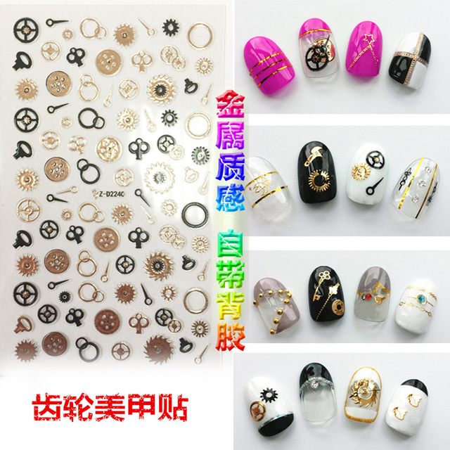 3D Nail Stickers Flower Nail Stickers Adhesive Tips Nail Art ...