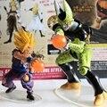 2 unids/set Dragon Ball Z Figuras de Acción Son Gohan vs Celular PVC Modelo Muñeca de Juguete Estatuilla