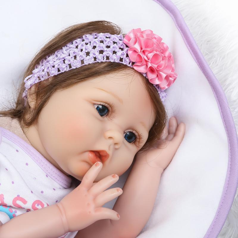 cute reborn dolls Newborn Reborn Baby Dolls Silicone Soft Babies Doll For Girls Princess Kid Fashion