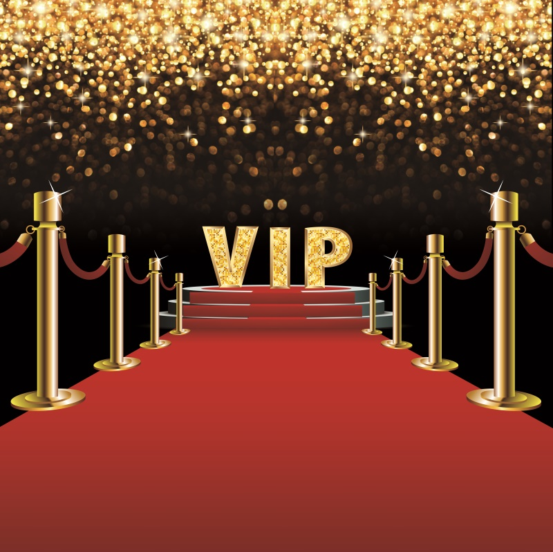 Laeacco Stage Red Carpet Backdrop For Photography VIP Party Gold Polka Dots Baby Portrait Photo Background Photocall Photo Stuio
