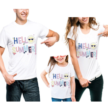 Mother And Daughter Family Look Letter Print T-Shirt Clothes Father Mum Girl Son Matching Outfits Short Sleeve Cotton Tee Shirt