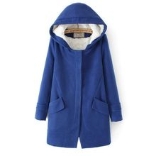 New 2015 high quality warm fashion long slim thick  women winter jacket  fashion casual long woolen coat