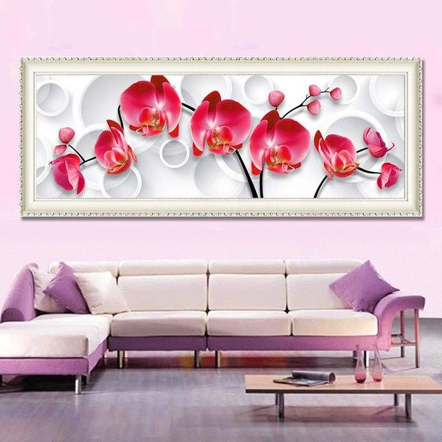 Full Diamond Painting Moth Orchid Diy Diamond Embroidery Modern ...