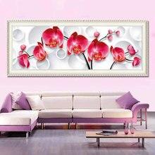 Voller diamanten malerei neue blume serie orchidee diy diamant stickerei für das schlafzimmer 2 größe