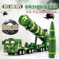 В РАЗМЕРЕ 1: 64 Военная модель автомобиля детские игрушки Мировой Войны Dongfeng DF31A межконтинентальная баллистическая ракета отступить свет звук подарок