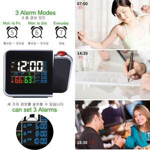 Image 3 - ไอเดียของขวัญที่มีสีสัน LED DIGITAL PROJECTION นาฬิกาปลุกอุณหภูมิเครื่องวัดอุณหภูมิความชื้นความชื้นโต๊ะโปรเจคเตอร์เวลาปฏิทิน