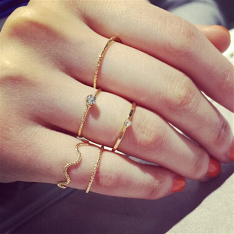 aliexpress buy simple gold knuckle finger