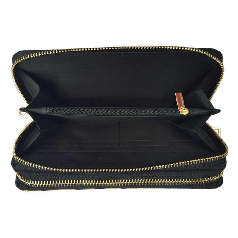 WA005 модный Леопардовый PU женский длинный женский кошелек кожаный кошелек на двойной молнии Женский мульти держатель для карт Сумочка carteira femmes