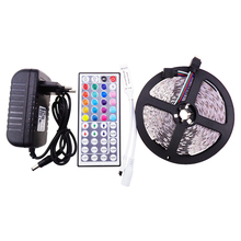 LED Strip 5050 Set 5M 300Led ip20 SMD Light  DC12V RGB with 44Key RGB Controller and 3A Power Adapter red ww blue white Z40
